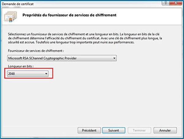 Microsoft Iis 7 G 233 N 233 Rer Une Demande De Certificat Ssl Csr